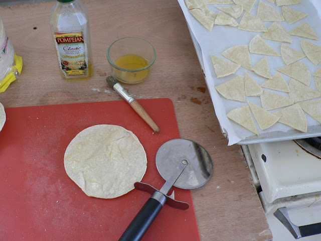 Homemade Baked Corn Tortilla Chips recipe