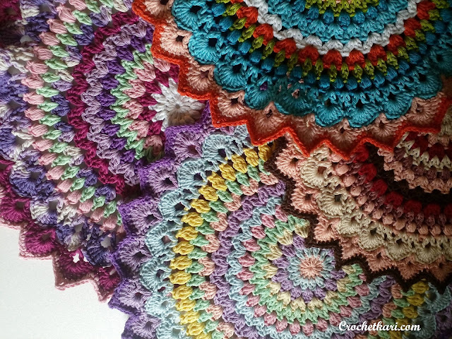 crochet lotus mandala collage