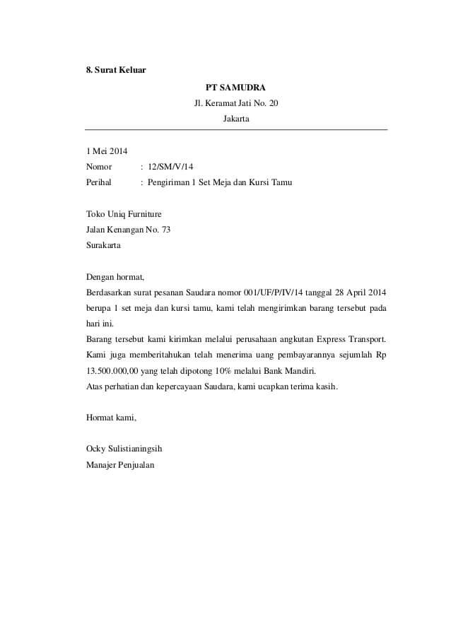 Contoh Surat Masuk Dan Surat Keluar Informasi Seputar