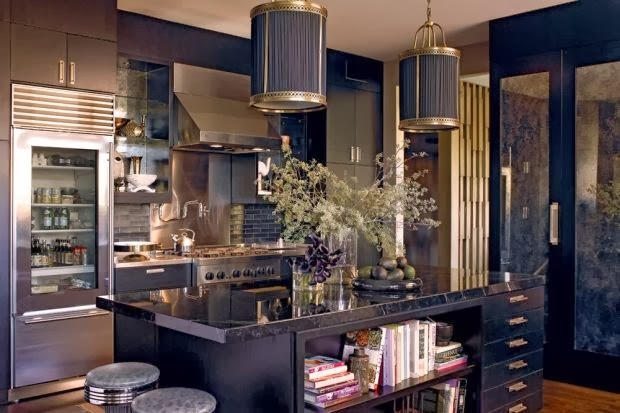 Luxury black kitchen