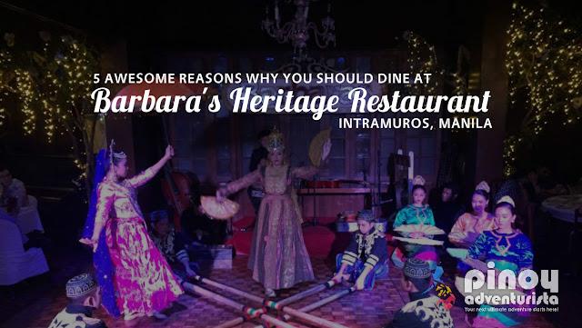 Barbaras Heritage Restaurant in Intramuros Manila