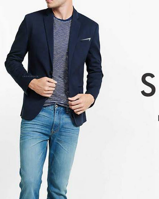 indonesia shop blue skinny suit blazer sk84 biru