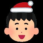 クリスマスの顔マーク(男の子)