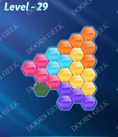 Block! Hexa Puzzle [6 Mania] Level 29 Solution, Cheats, Walkthrough for android, iphone, ipad, ipod