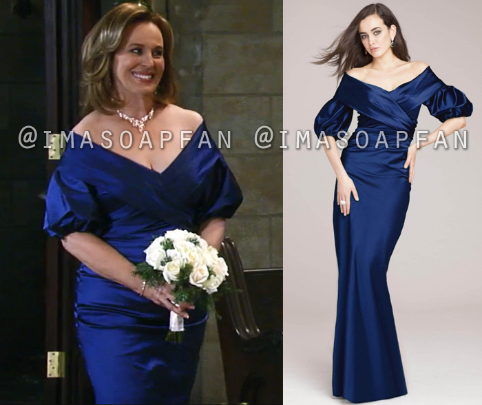 Laura Collins, Genie Francis, Blue Taffeta Wedding Gown, General Hospital, GH