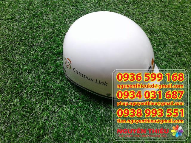 Cơ sở in mũ bảo hiểm giá rẻ, mũ bảo hiểm in quà tặng thương hiệu, Sản xuất nón bảo hiểm 3/4 đầu
