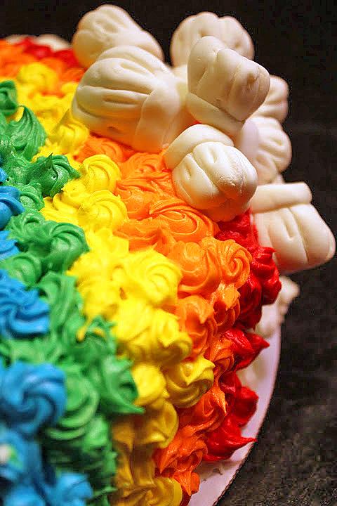 Rainbow Cake Decorating Suffolk Uk