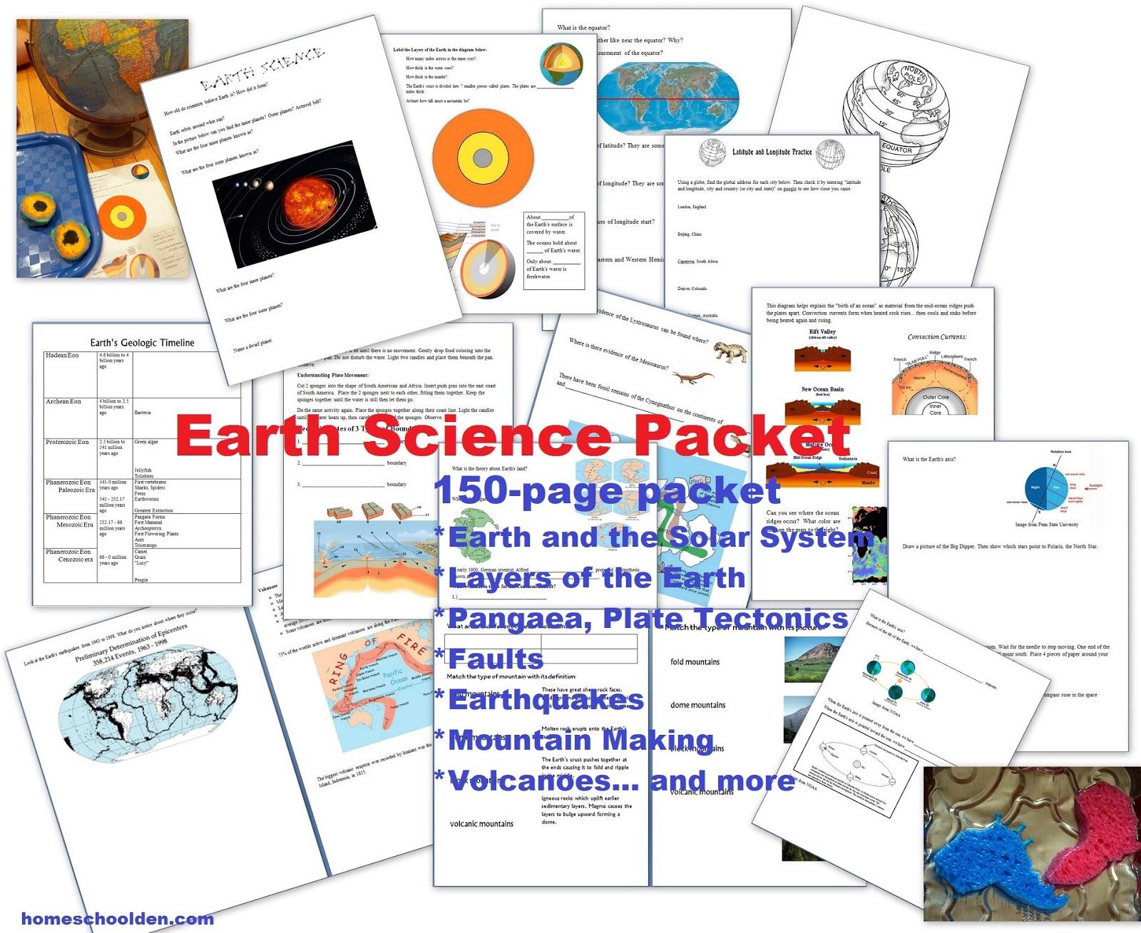 The Homeschool Den Earth Science Plate Movement Earthquakes