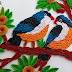 A Beautiful Quilled birds sitting on tree I Paper Quilling Art