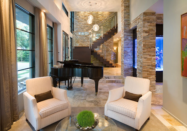 Piano by the staircase