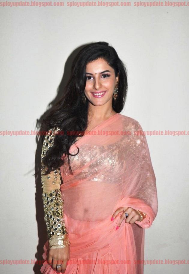 Gorgeous Isha Talwar Latest Sizzling Stills in Transparent Saree