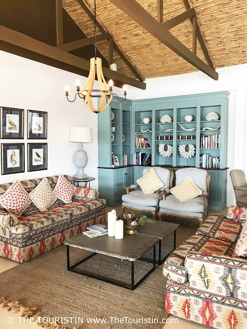 Country style design in the lounge area of the Fig Tree Restaurant in the De Hoop Nature Reserve.