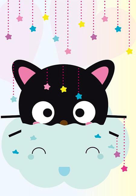 Cute Kitty Cat Wallpapers Chococat En Nube Con Estrellas Imagenes Y Carteles