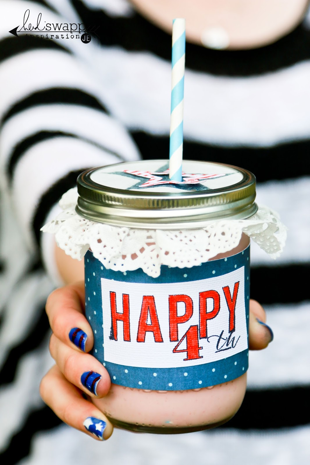 Heidi Swapp 4th of July Mason Jar @heidiswapp @createoften #heidiswapp