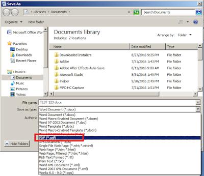 Xps or as microsoft save pdf
