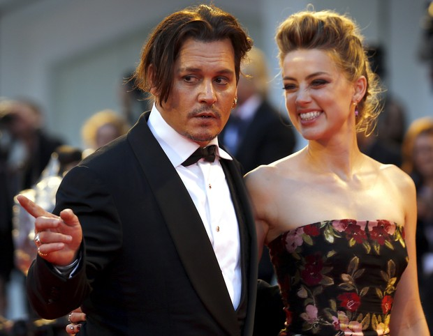 Johnny Depp and Amber Heard in Venice