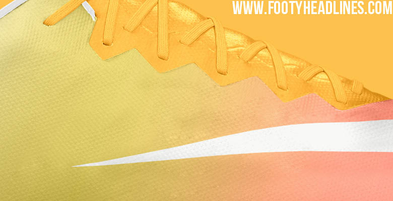 the best attitude 9e527 a703a The white, yellow and pale orange Nike Mercurial Vapor 10 Soccer Cleat is  set to be released in March 2016.