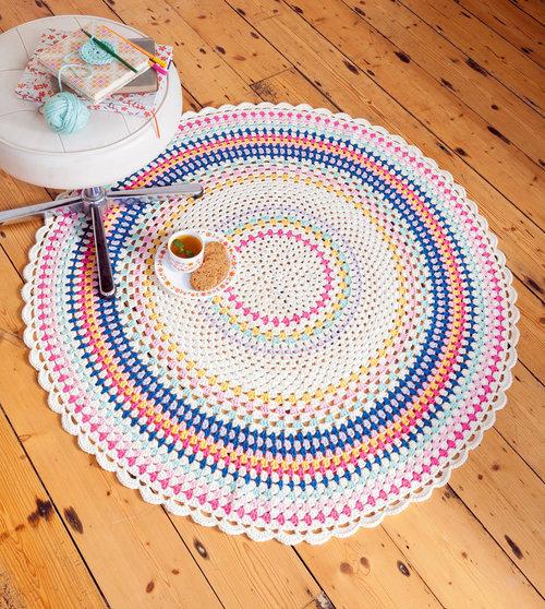 throw rug crochet pattern