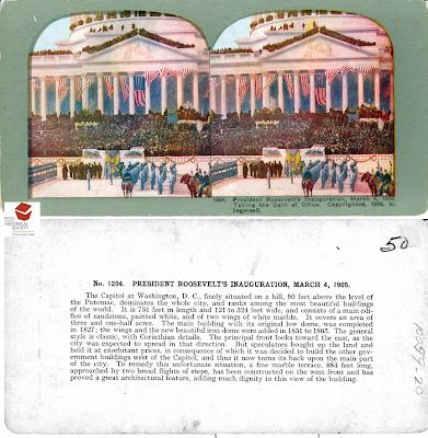 President Roosevelt stereograph card