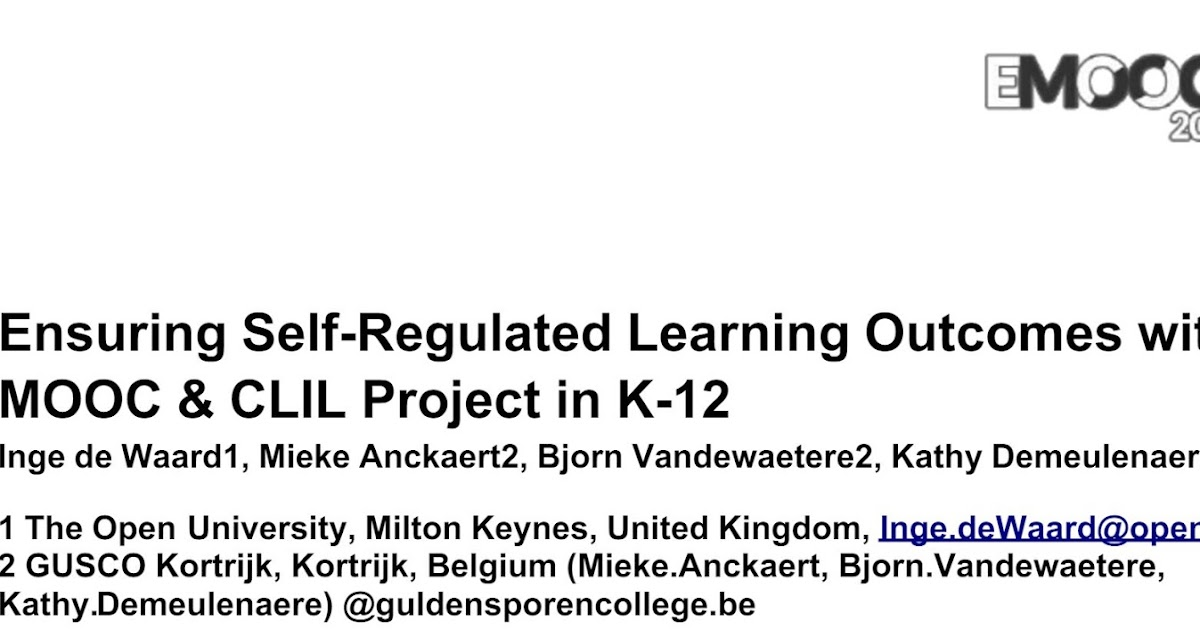 @Ignatia Webs: Self-regulated learning for measuring ...