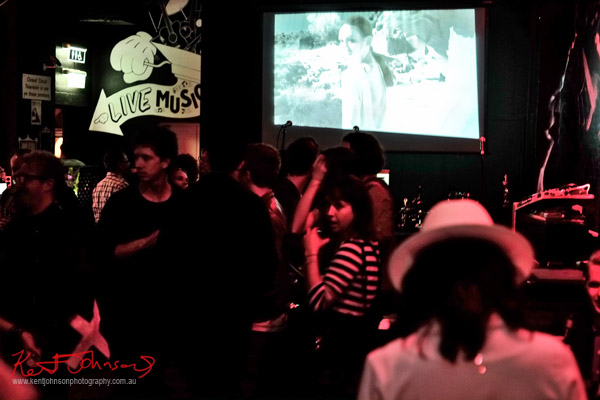 The crowd watching the fashion film, 'Blessed Are The Meek'  'Wanderlust' Fashion Film at Oxford Art Factory