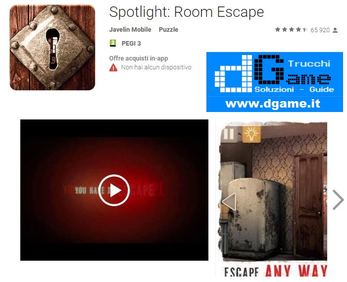 Soluzioni Spotlight: Room Escape di tutti i livelli | Walkthrough guide