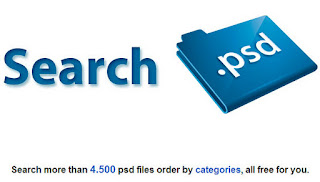 search psd logo with search box