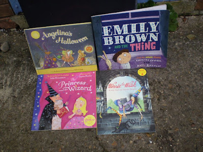 A selection of Halloween books