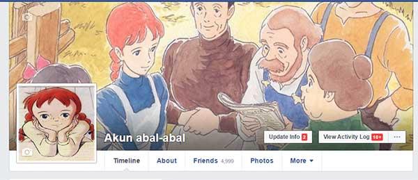 Efek memiliki banyak teman anime yang tidak dikenal facebook