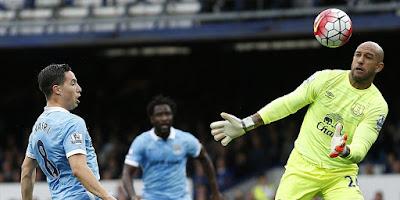 Hasil Pertandingan Everton vs Manchester City 0-2