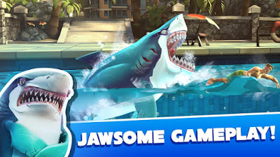 Download Hungry Shark World Mod Apk Unlimited Money and Gems