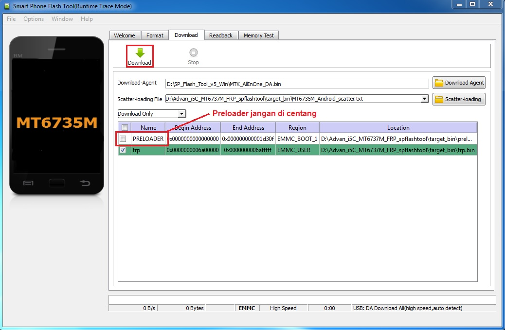 Cara Bypass Frp Akun Google Advan I5c Mtk Via Sp Flashtool Green Soft
