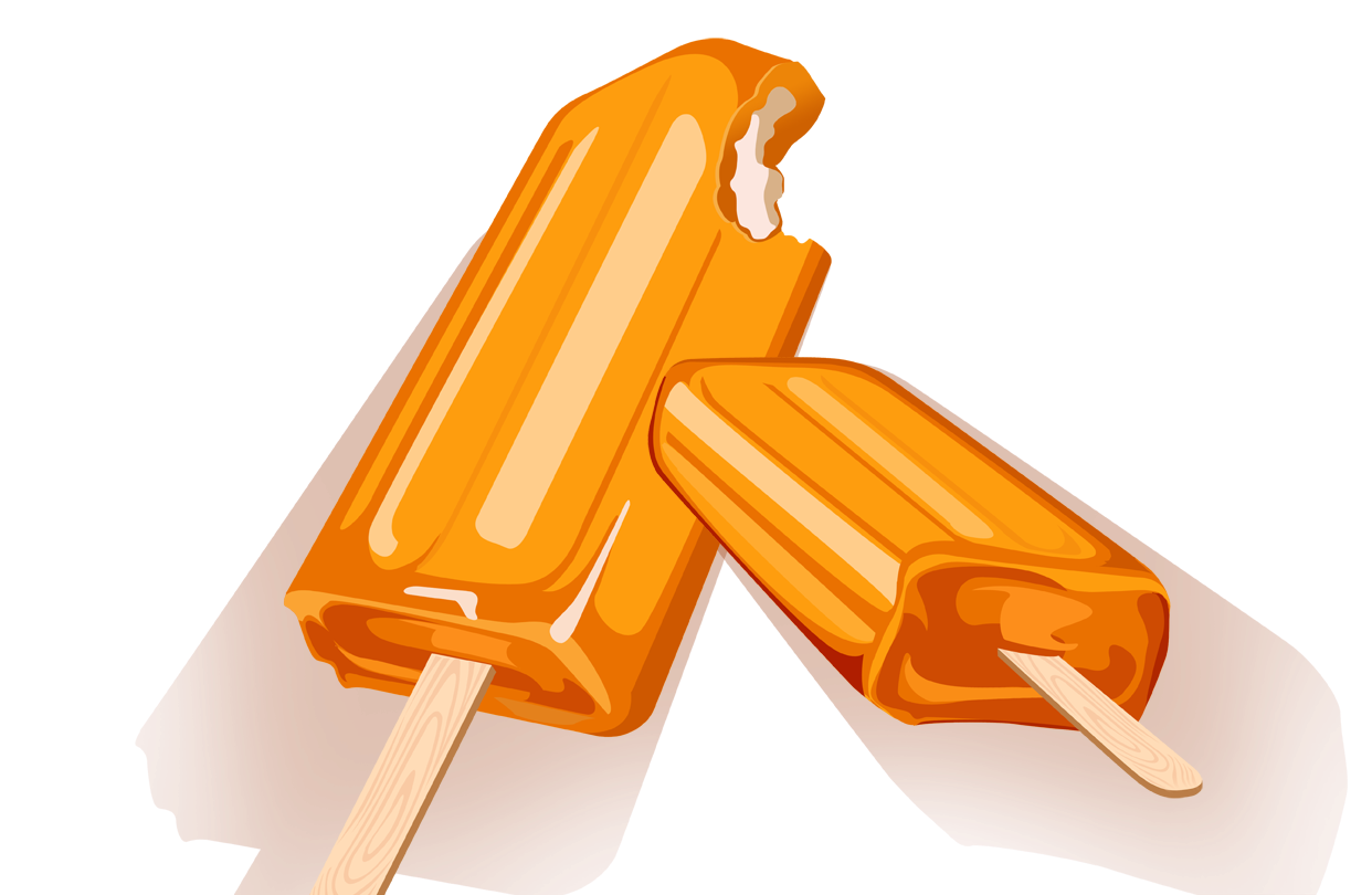 Orange Ice Cream Clipart