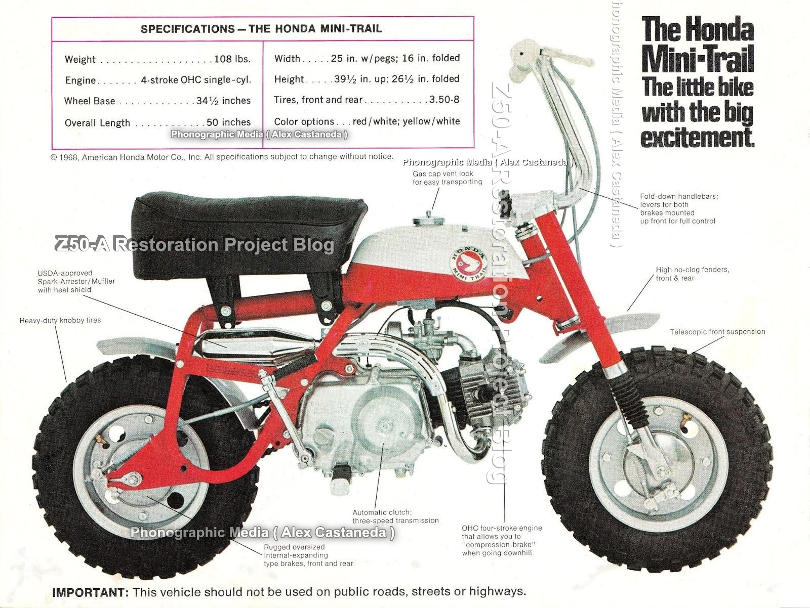A little advice on little bikes brochure honda qa 50 z50 heres a magazine ad for the following year introducing the 1969 honda mini trail z50 k1 model which was equipped with lights and was allowed to be sciox Image collections