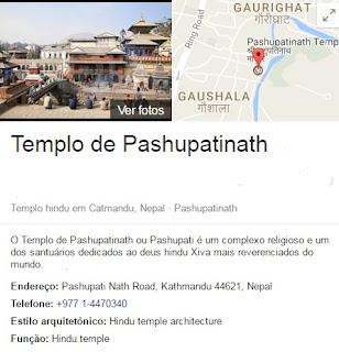 Templo de Pashupatinath ou Pashupati é um complexo religioso e um dos santuários dedicados ao deus hindu Xiva mais reverenciados do mundo