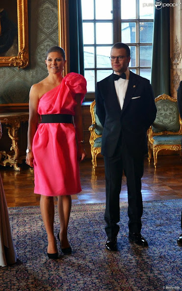 Queen Silvia, Croen Princess Victoria hosted a official dinner at Royal Palace in Stockholm