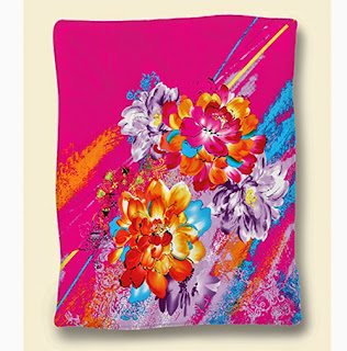 Selimut Rosanna King Sutra Abstract Flower