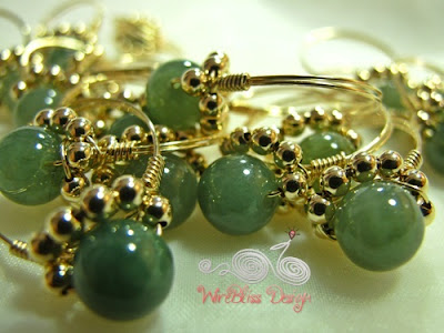Wire wrapped jade rings- Daisy Ring