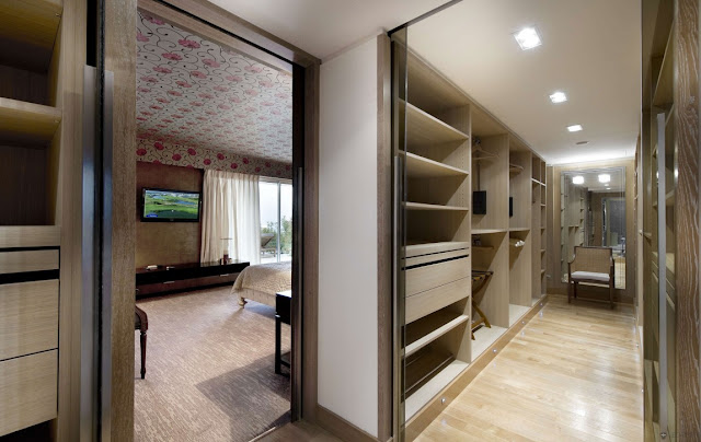 Modern hallway and entrance to the bedroom