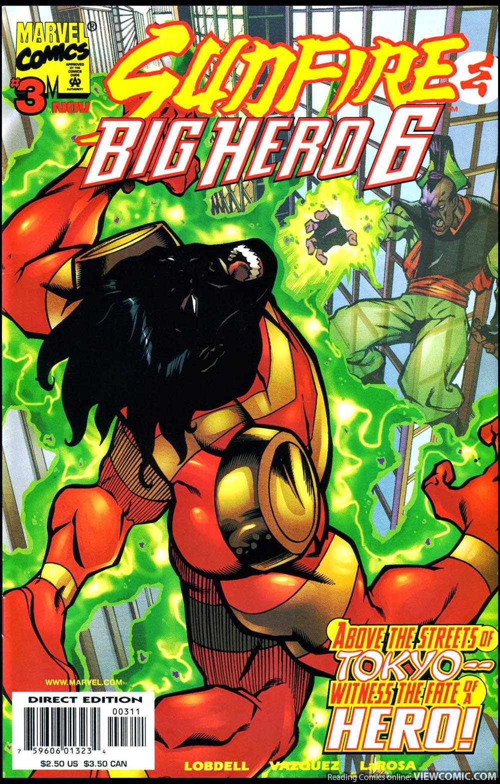 Big Hero Comic sunfire & big hero six | viewcomic reading comics online for