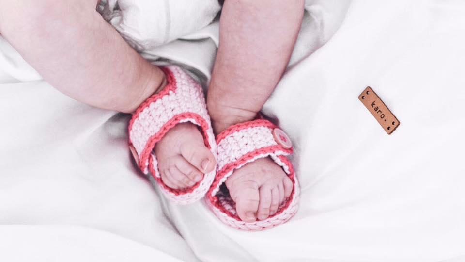 Sommerschuhe für Babys häkeln