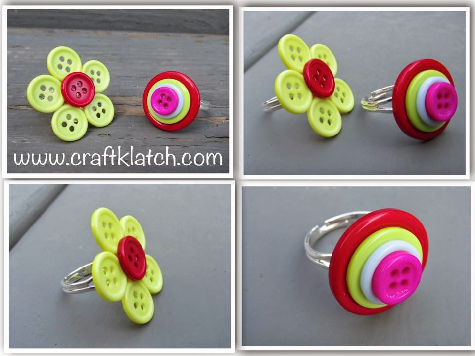 Craft Klatch ®: DIY Button Rings How To