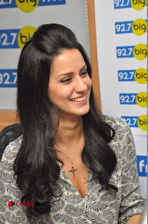 Larissa Bonesi Pictures in Jeans at Big FM For Thikka Movie Promotions | ~ Bollywood and South Indian Cinema Actress Exclusive Picture Galleries