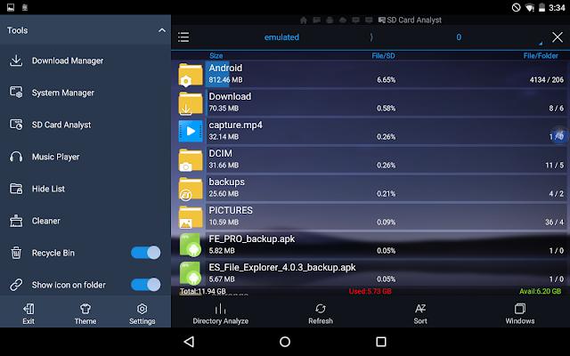 تحميل تطبيق إدارة الملفات الإحترافي اَخر إصدار ES File Explorer Pro النسخة المدفوعة