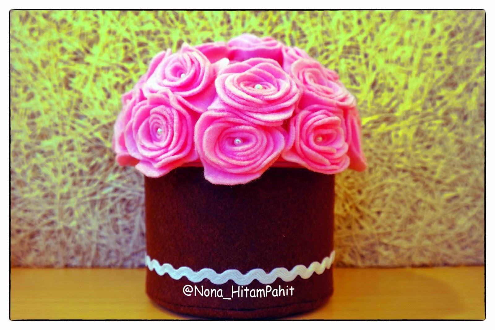 flanel, pink rose, felt