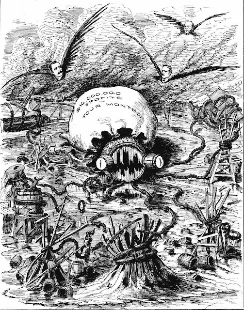 evil 1879 oil barons cartoon