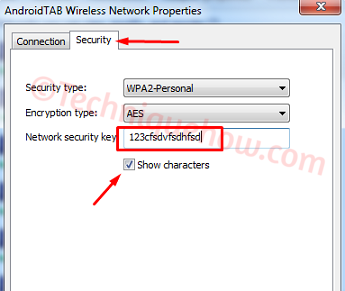 view Saved WiFi Password on Windows 7