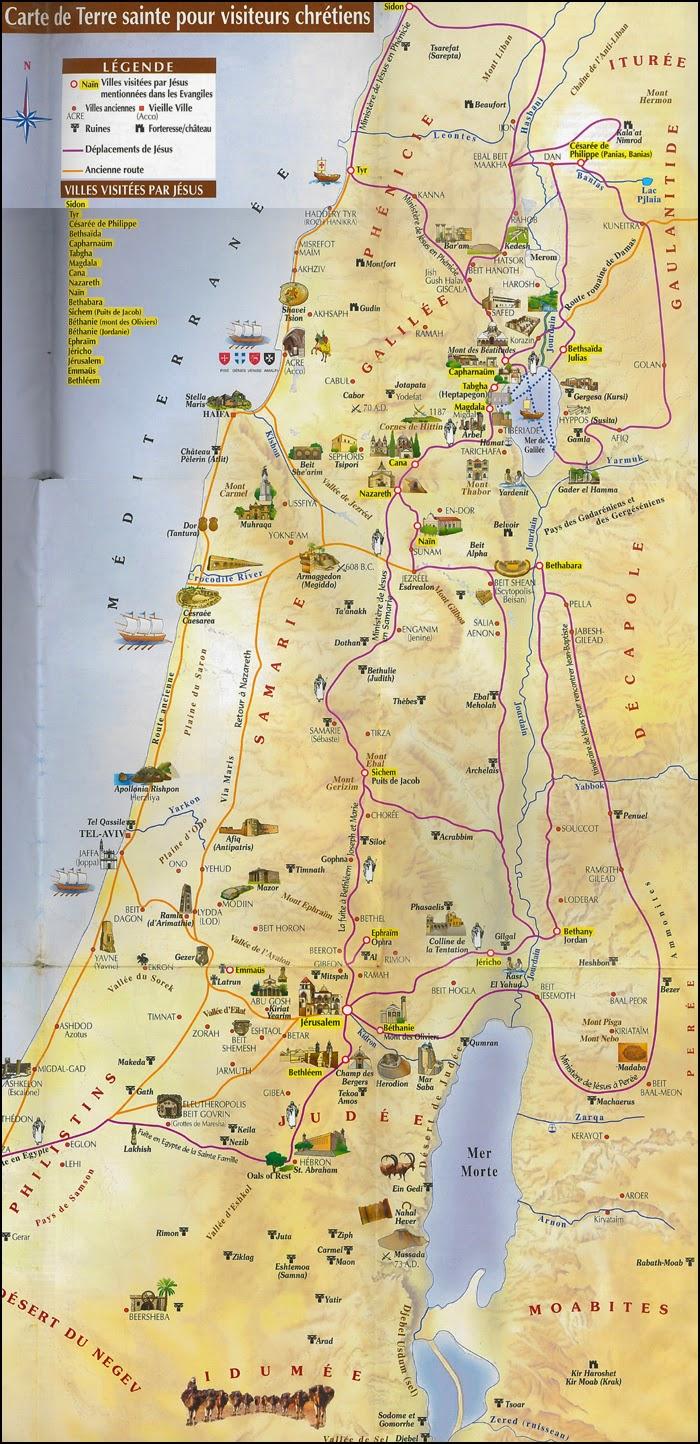 Carte de Jésus en Palestine