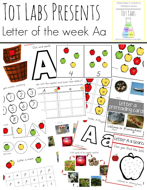 Tot Labs Presents: Letter of the Week Letter A by Welcome to Mommyhood #montessori, #preschoolactivities, #handsonlearning, #homeschool, #montessoriactivities
