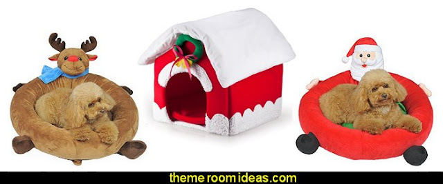 christmas pet beds
